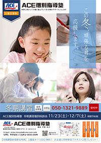 ACE個別指導塾冬期講習広告2019年オモテ
